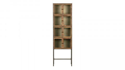 Armoire de rangement en métal avec portes en bois - Collection Box - BePureHome