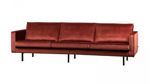Canapé 4 places en velours châtaigne - Collection Rodéo - BePureHome