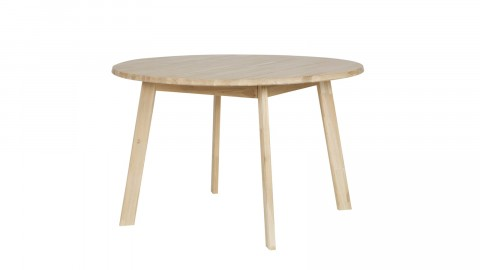 Table à manger ronde en chêne 120cm de diamètre - Collection Disc - Woood