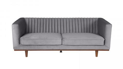 Canapé 3 places en velours gris foncé – Collection Dante