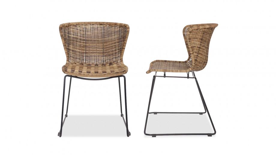 Lot de 2 chaises couleur natural – Collection Wings