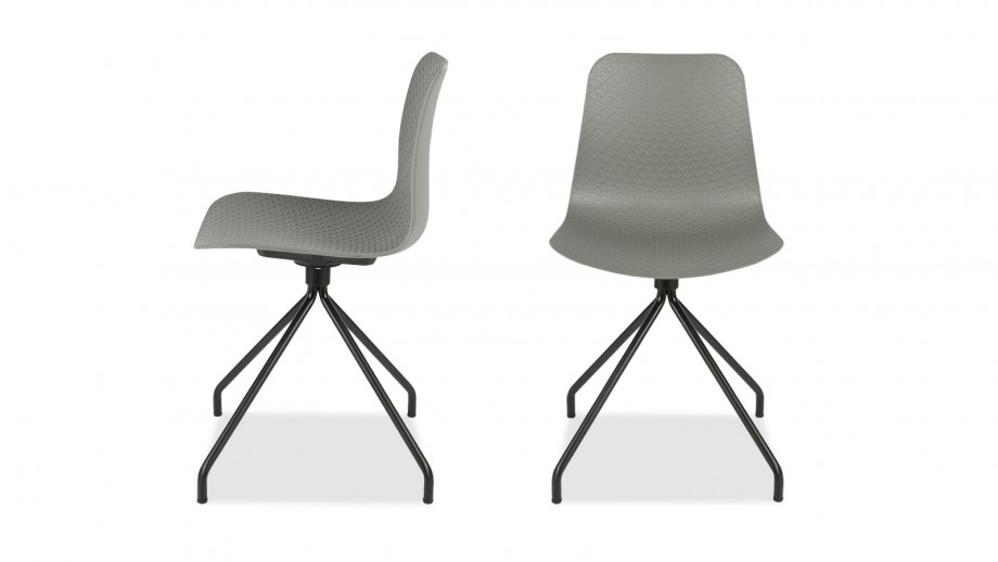 Lot de 2 chaises couleur gris – Collection Sis