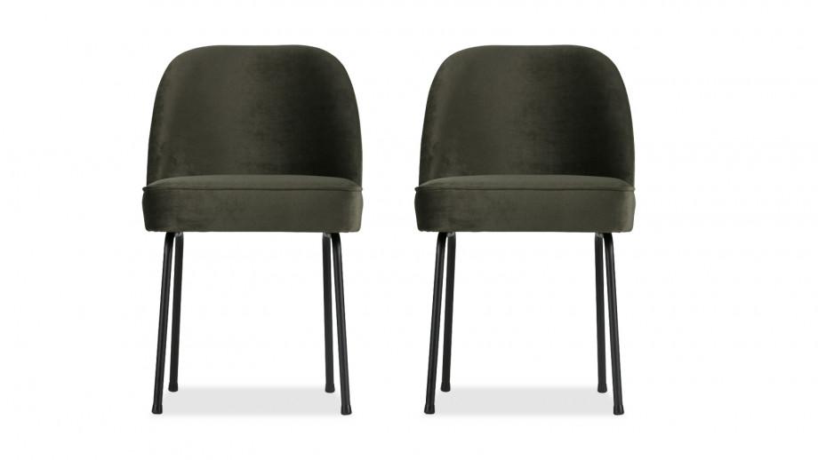 Chaise en velours onyx – Collection Vogue