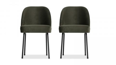 Lot de 2 chaises en velours onyx - Vogue - BePureHome