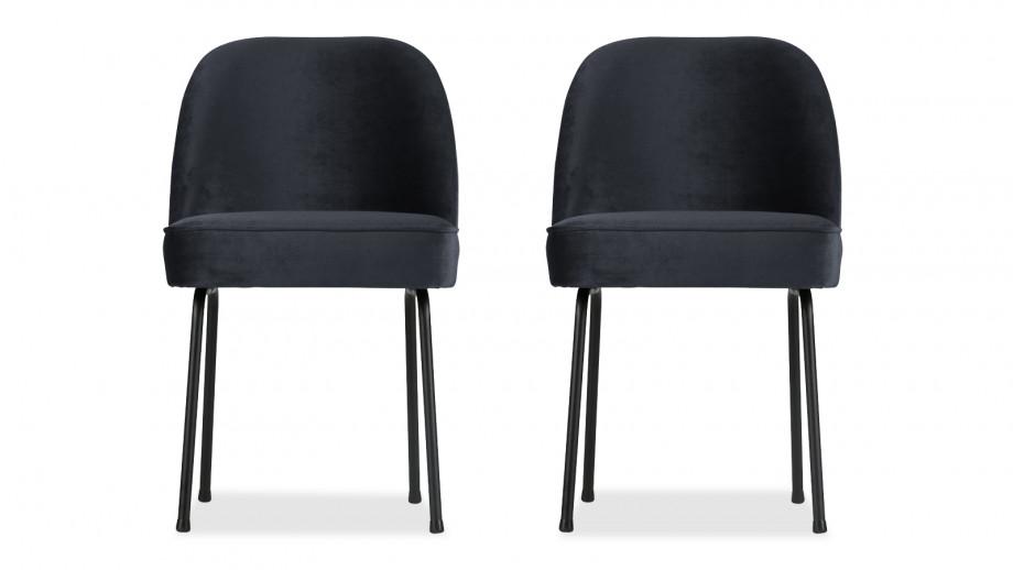 Chaise en velours encre – Collection Vogue