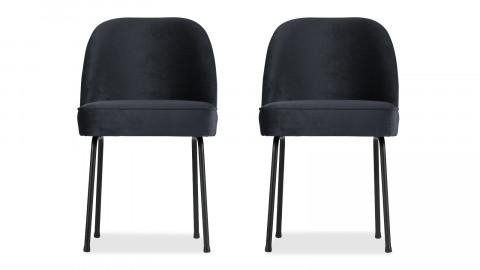 Lot de 2 chaises en velours bleu nuit - Vogue - BePureHome
