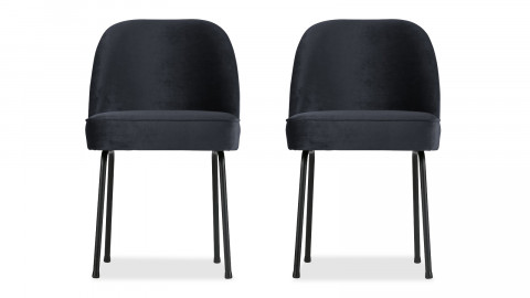 Lot de 2 chaises en velours encre - Collection Vogue - BePureHome