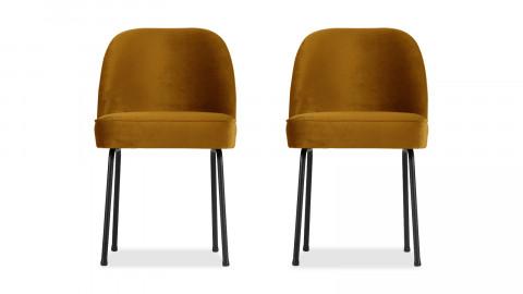 Lot de 2 chaises en velours moutarde - Vogue - BePureHome