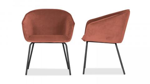 Lot de 2 chaises en velours framboise - Collection Sien - Woood