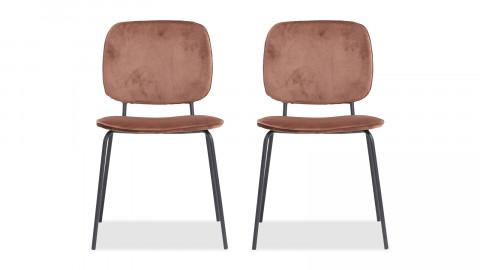Lot de 4 chaises en velours rouille - Collection Comma - House Doctor