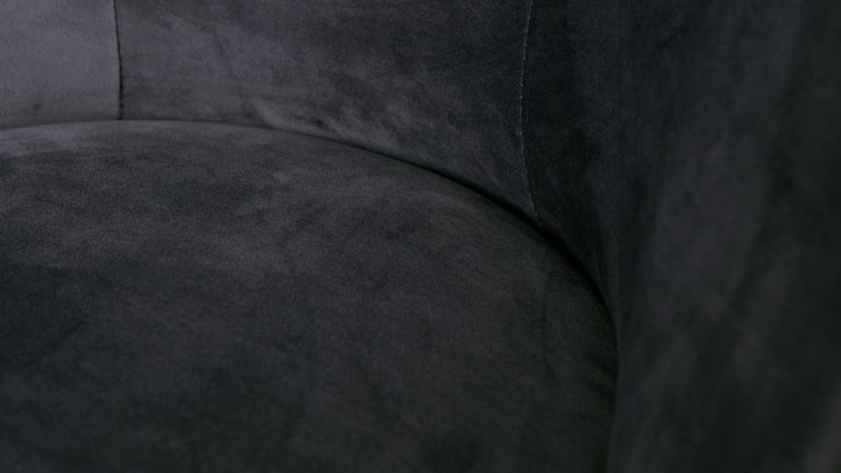 Fauteuil en velours encre – Collection Vogue