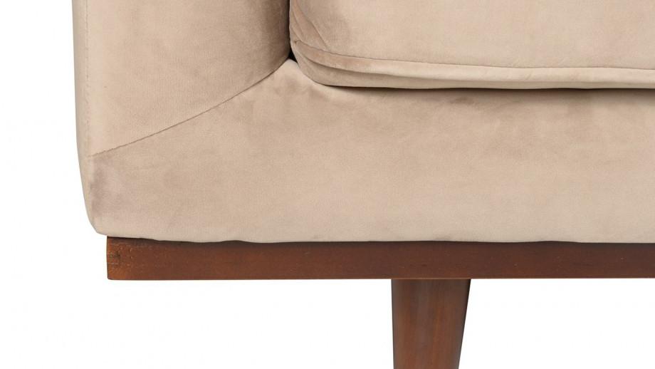 Canapé 2 places en velours beige – Collection Dante