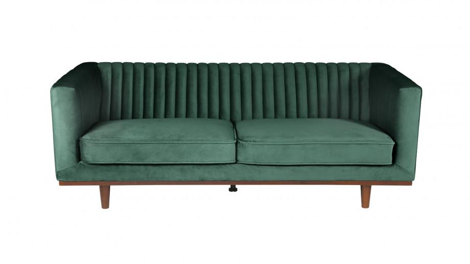 Canapé 3 places en velours vert – Collection Dante