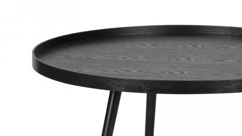 Table basse ronde en bois noir, 39x78x78cm - Collection Mesa