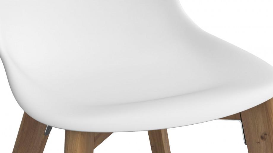 SUZY Lot de 4 chaises de jardin blanches