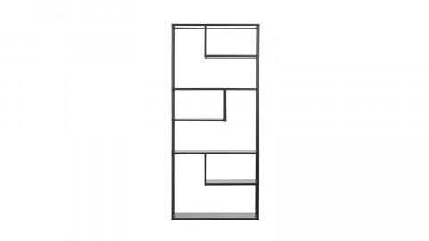 Bibliothèque à cases en métal noir - Teun - Woood