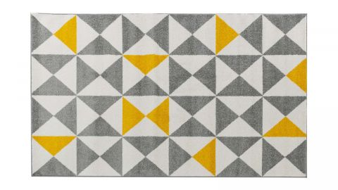 Tapis scandinave jaune 120x160cm - Collection Alicia