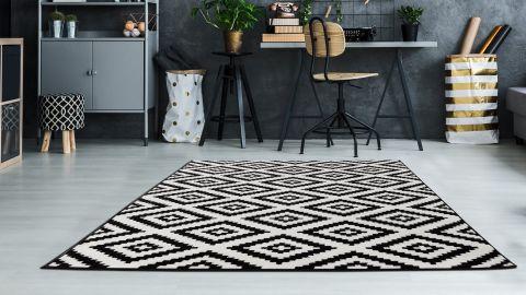 Tapis scandinave noir 120x160cm - Collection Best