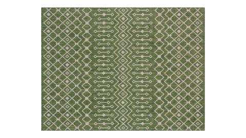Tapis d'extérieur scandinave vert 70x140cm - Collection Ethan
