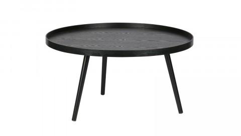 Table basse ronde en bois noir, 34x60x60cm - Collection Mesa
