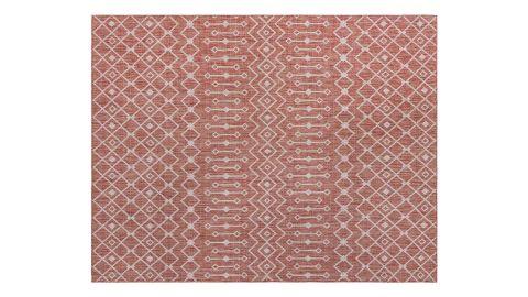 Tapis d'extérieur scandinave rouge 200x290cm - Collection Ethan