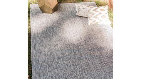 Tapis d'extérieur scandinave gris 200x200cm carré - Collection Ethan