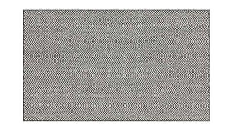 Tapis d'extérieur scandinave noir 120x160cm - Collection Ethan