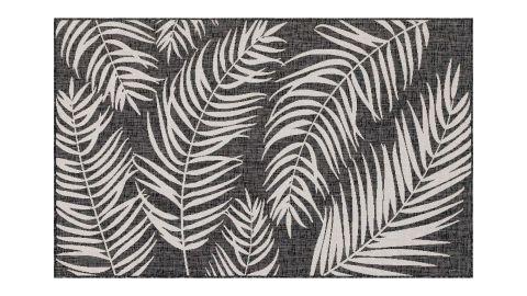 Tapis d'extérieur scandinave noir 200x200cm carré - Collection Ethan