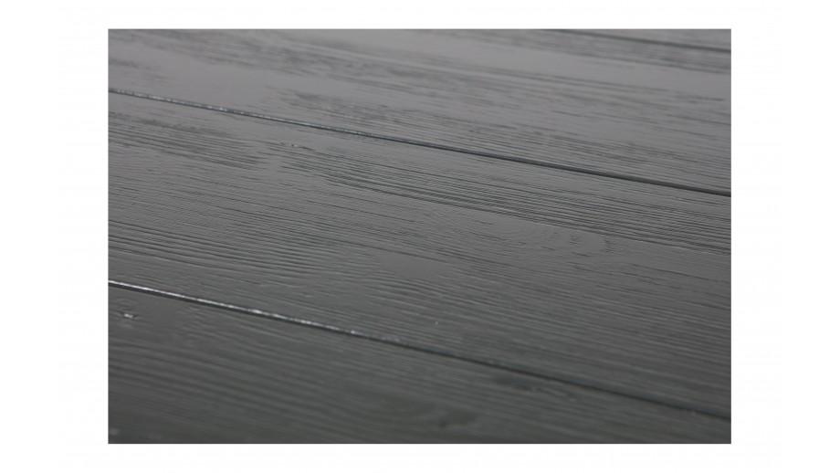 Table à manger en bois naturel et piètement en fer noir - Collection Army
