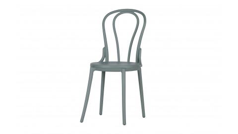 Set de 2 chaises de bistro en platique gris - Collection Bibi