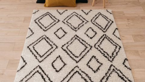 Tapis motifs shaggy crème 200x290cm - Collection James