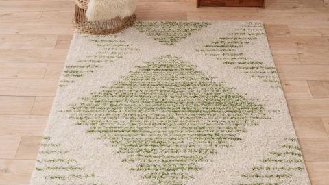 Tapis motifs shaggy vert 160x230cm - Collection James
