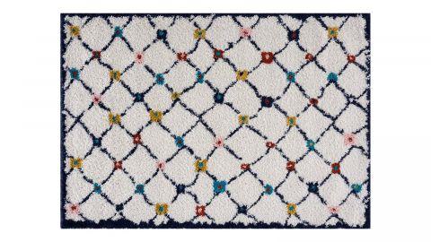 Tapis motifs shaggy Multicolore 120x170cm - Collection John