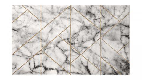Tapis de couloir moderne or 80x150cm - Collection Kyle