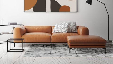 Tapis de couloir moderne gris 80x150cm - Collection Kyle