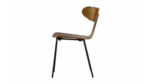 Lot de 2 chaises en bois de frêne marron piètement en métal - Collection Form