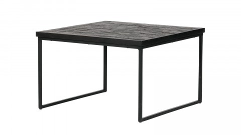Table basse carrée en bois noir - Collection Sharing