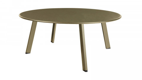Table basse ronde en métal vert jungle Ø70cm - Collection Fer - Woood