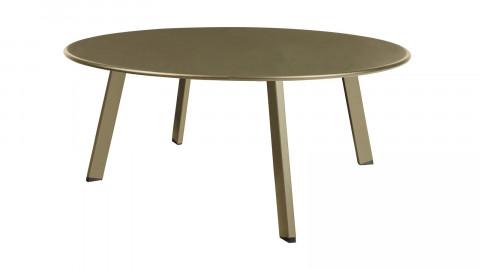 Table basse ronde en métal vert jungle Ø70cm - Collection Fer - Woood