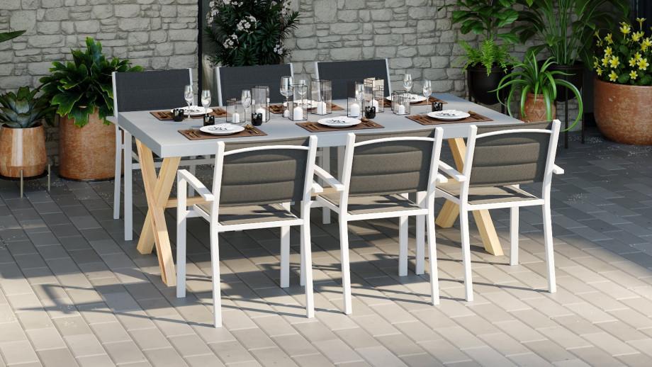 ROBIN Table de jardin en fibre ciment