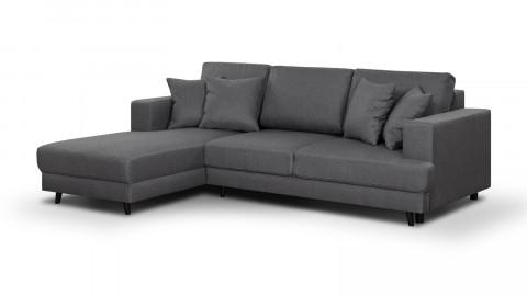 Canapé d'angle gauche convertible 4 places en tissu gris souris - Collection Marceau
