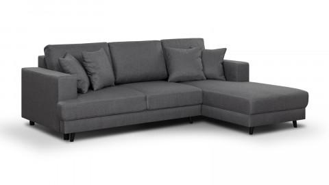Canapé d'angle droit convertible 4 places en tissu gris souris - Collection Marceau