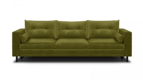 Canapé 3 places convertibles en velours vert olive - Collection Viktor