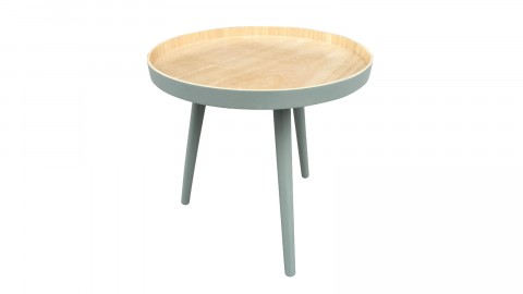 Table basse 40x40cm vert - Collection Sasha - Woood