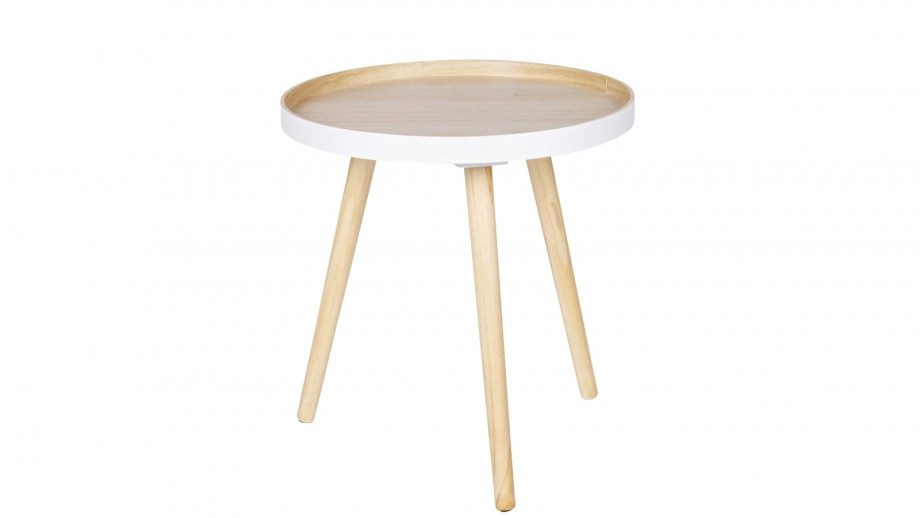 Table basse 40x40cm bois – Collection Sasha