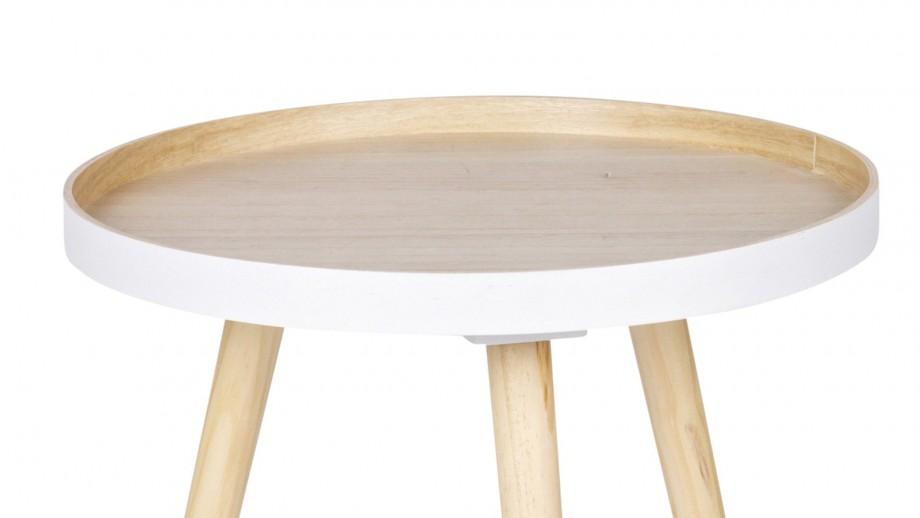 Table basse 40x40cm bois – Collection Sasha