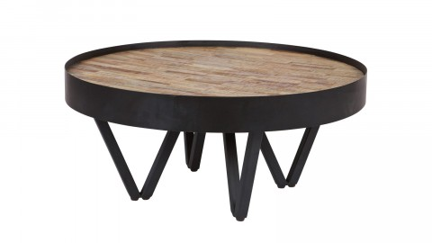 Table basse ronde noire - Collection Dax - Woood