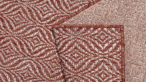 Tapis d'extérieur scandinave rouge 160x230cm - Collection Ethan