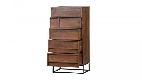 Commode en manguier 5 tiroirs - Collection Forrest - Woood