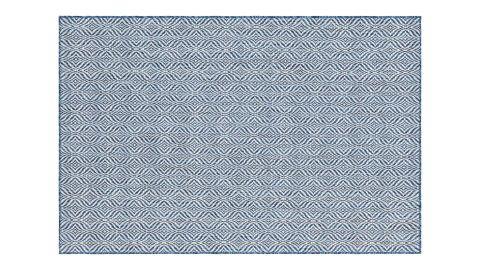 Tapis d'extérieur scandinave bleu 120x160cm - Collection Ethan